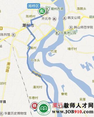 潮州汽车总站到龙湖镇塘东村